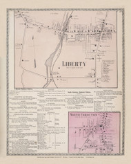 Cohocten Liberty North Cohocton, New York 1873 - Old Town Map Reprint - Steuben Co. Atlas