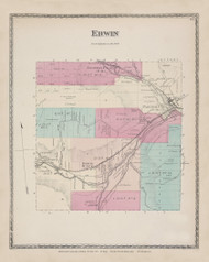 Erwin, New York 1873 - Old Town Map Reprint - Steuben Co. Atlas