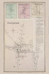 Prattsburgh Bluffport Harmonyville Erwin Center, New York 1873 - Old Town Map Reprint - Steuben Co. Atlas