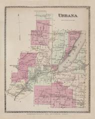 Urbana, New York 1873 - Old Town Map Reprint - Steuben Co. Atlas