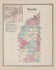 Wayne Wayne Village, New York 1873 - Old Town Map Reprint - Steuben Co. Atlas