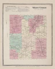 West Union, New York 1873 - Old Town Map Reprint - Steuben Co. Atlas