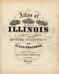 Title Page, 1876 Illinois - Old Map Reprint - Warner & Beers Illinois State Atlas