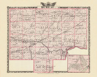 Bureau County, 1876 Illinois - Old Map Reprint - Warner & Beers Illinois State Atlas