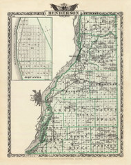 Henderson County, 1876 Illinois - Old Map Reprint - Warner & Beers Illinois State Atlas