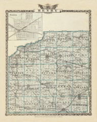 Henry County, 1876 Illinois - Old Map Reprint - Warner & Beers Illinois State Atlas