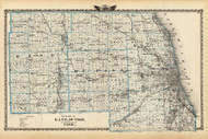 Kane, Du Page & Cook Counties, 1876 Illinois - Old Map Reprint - Warner & Beers Illinois State Atlas