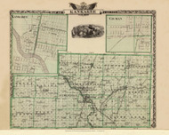Kankakee County, 1876 Illinois - Old Map Reprint - Warner & Beers Illinois State Atlas