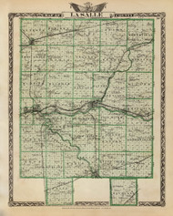 La Salle County, 1876 Illinois - Old Map Reprint - Warner & Beers Illinois State Atlas