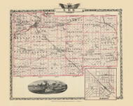 Lee County, 1876 Illinois - Old Map Reprint - Warner & Beers Illinois State Atlas