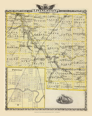 Livingston County, 1876 Illinois - Old Map Reprint - Warner & Beers Illinois State Atlas