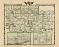Ogle County, 1876 Illinois - Old Map Reprint - Warner & Beers Illinois State Atlas
