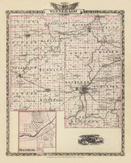 Winnebago County, 1876 Illinois - Old Map Reprint - Warner & Beers Illinois State Atlas