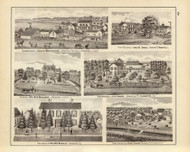 Brennemann Farm & other Pictures, 1876 Illinois - Old Map Reprint - Warner & Beers Illinois State Atlas