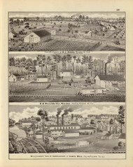 Hughes Residence & other Pictures, 1876 Illinois - Old Map Reprint - Warner & Beers Illinois State Atlas