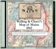 Map of the State of Maine 1862, CDROM Old Map