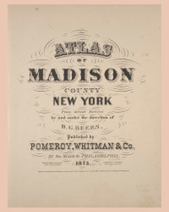 Title Page, New York 1875 - Old Town Map Reprint - Madison Co. Atlas