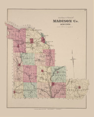 Madison County, New York 1875 - Old Town Map Reprint - Madison Co. Atlas