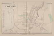 Cazenovia Village North, New York 1875 - Old Town Map Reprint - Madison Co. Atlas