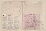 Cazenovia Village South, New York 1875 - Old Town Map Reprint - Madison Co. Atlas