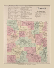 Eaton, New York 1875 - Old Town Map Reprint - Madison Co. Atlas