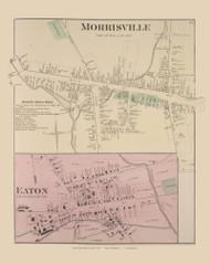 Morissville Eaton, New York 1875 - Old Town Map Reprint - Madison Co. Atlas