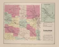 Lebanon Lebanon Village, New York 1875 - Old Town Map Reprint - Madison Co. Atlas