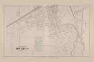 Oneida Oneida Village South, New York 1875 - Old Town Map Reprint - Madison Co. Atlas