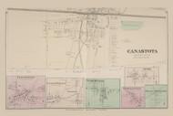 Canasota Clockville Lenox Furnace Hoboken Wampsville Merrillsville Bennetts Corners Lenox, New York 1875 - Old Town Map Reprint - Madison Co. Atlas