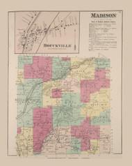 Madison Bouckville, New York 1875 - Old Town Map Reprint - Madison Co. Atlas