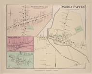 Oneida Oneida Castle Madison Village Solsville Nelson Flats, New York 1875 - Old Town Map Reprint - Madison Co. Atlas