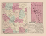 Nelson Erieville, New York 1875 - Old Town Map Reprint - Madison Co. Atlas