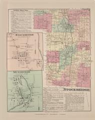 Stockbridge Stockbridge Village Munnsville, New York 1875 - Old Town Map Reprint - Madison Co. Atlas