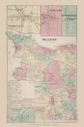 Sullivan Perryville Bridgeport Chittenango Station Canaseraga, New York 1875 - Old Town Map Reprint - Madison Co. Atlas
