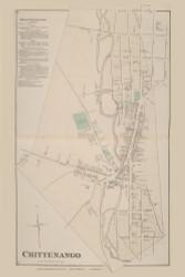 Chittenango Chittenango Village, New York 1875 - Old Town Map Reprint - Madison Co. Atlas
