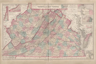 Virginia and West Virginia - 1878 O.W. Gray - USA Atlases - States