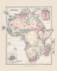 Africa - 1878 O.W. Gray - USA Atlases - Europe & The World