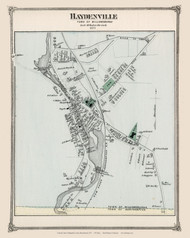 Haydenville Village, Massachusetts 1873 Old Town Map Reprint - Hampshire Co.