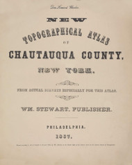 Title, New York 1867 - Old Town Map Reprint - Chautauqua Co. Atlas