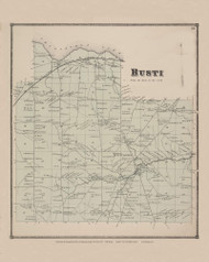 Busti, New York 1867 - Old Town Map Reprint - Chautauqua Co. Atlas