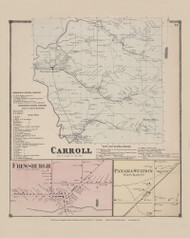 Town of Carroll and Frewsburgh and Panama Station Villages, New York 1867 - Old Town Map Reprint - Chautauqua Co. Atlas