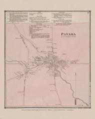 Panama Village, New York 1867 - Old Town Map Reprint - Chautauqua Co. Atlas