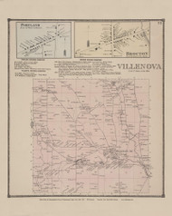 Town of Villenova and Portland and Brocton Villages, New York 1867 - Old Town Map Reprint - Chautauqua Co. Atlas