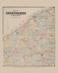 Map of Chautaqua County, New York 1867 - Old Town Map Reprint - Chautauqua Co. Atlas