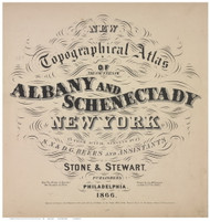 Title, Albany & Schenectady Cos., New York 1866 - Old Town Map Reprint - Albany & Schenectady Cos. Atlas