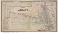 Albany City, Albany Co., New York 1866 - Old Town Map Reprint - Albany & Schenectady Cos. Atlas