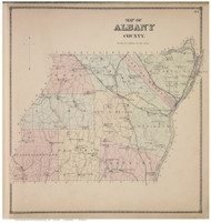 Albany County, Albany Co., New York 1866 - Old Town Map Reprint - Albany & Schenectady Cos. Atlas