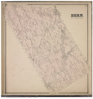 Bern , Albany Co., New York 1866 - Old Town Map Reprint - Albany & Schenectady Cos. Atlas