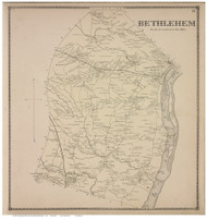 Bethlehem, Albany Co., New York 1866 - Old Town Map Reprint - Albany & Schenectady Cos. Atlas