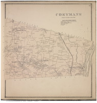 Coeymans, Albany Co., New York 1866 - Old Town Map Reprint - Albany & Schenectady Cos. Atlas